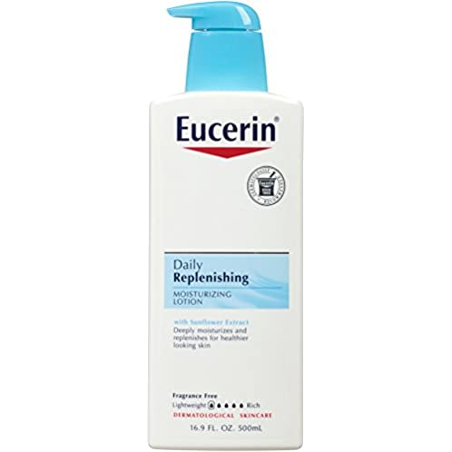 Eucerin Daily Replenishing Moisturizing Lotion, 16.9 Ounce (Pack of 3)