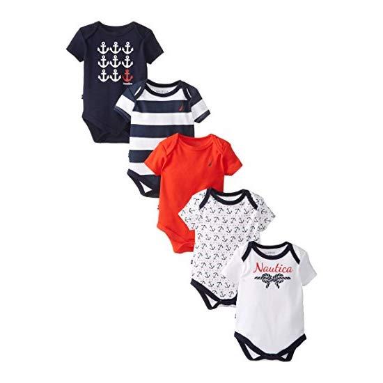 Nautica Baby-Girls Newborn Assorted Multi Pack Baby Girl Bodysuits