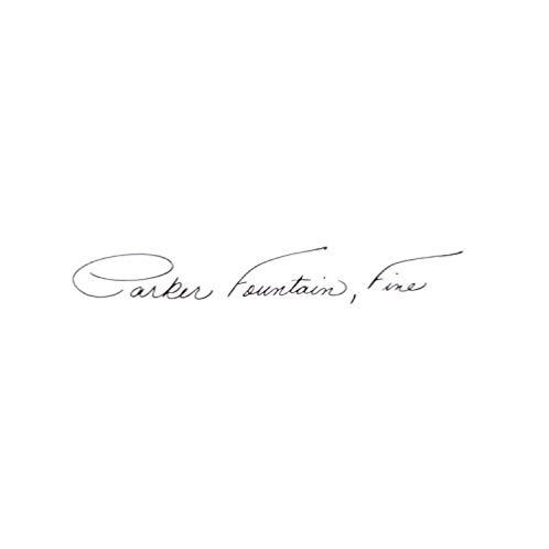 派克 Parker Sonnet Fountain Pen, Fine Point, Matte Black Lacquer with Gold Trim (S0817930)