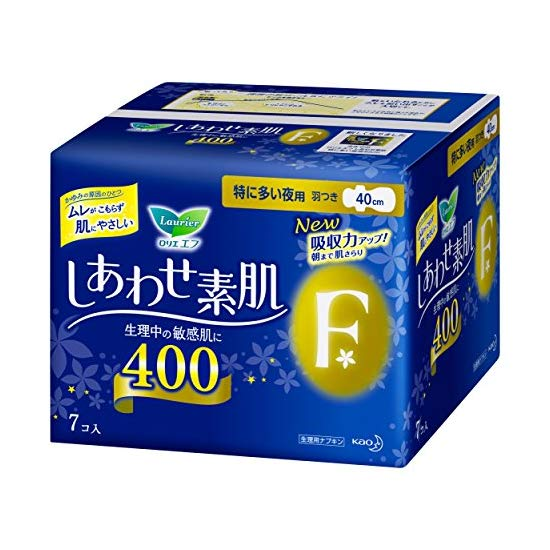 花王乐而雅F系列夜用卫生巾 40cm*7枚