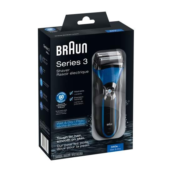Braun Series 3-340s Wet & Dry Electric Shaver