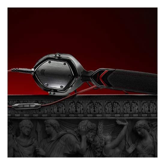V-MODA Crossfade M-80 On-Ear Noise-Isolating Metal Headphone (Shadow) (Discontinued by Manufacturer)