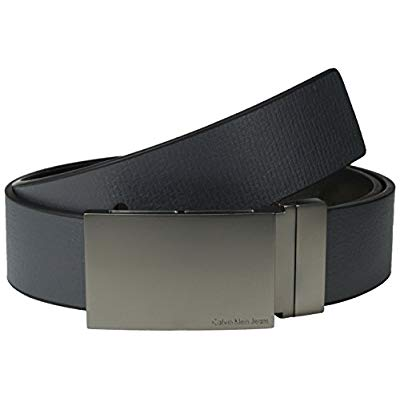 Calvin Klein Men's 38 mm Reversible Flat Strap Smooth Leather Belt