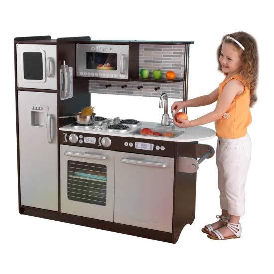 KidKraft Uptown 咖啡色木质儿童厨房