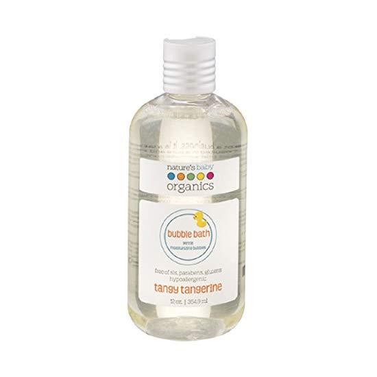 Nature's Baby Organics Bubble Bath, Tangy Tangerine, 12-Ounce Bottle