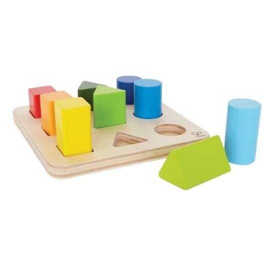 Hape 木质颜色形状分类积木盒