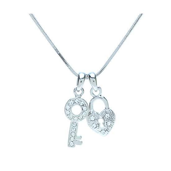 "Lova Jewelry ""打开我心的钥匙""吊坠项链"