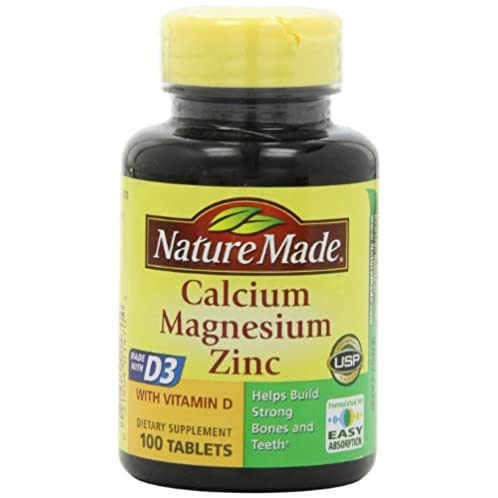 Nature Made Calcium Magnesium Zinc and Vitamin D3 100 Tablets