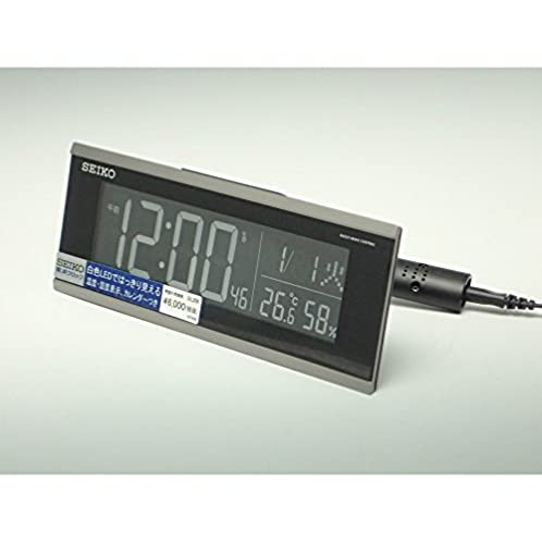 SEIKO CLOCK(セイコークロック) 交流式新液晶デジタル電波目覚まし時計(黒) DL206S
