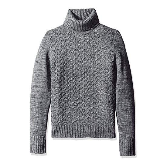 Calvin Klein Men's Wool Cable Knit Turtleneck Sweater