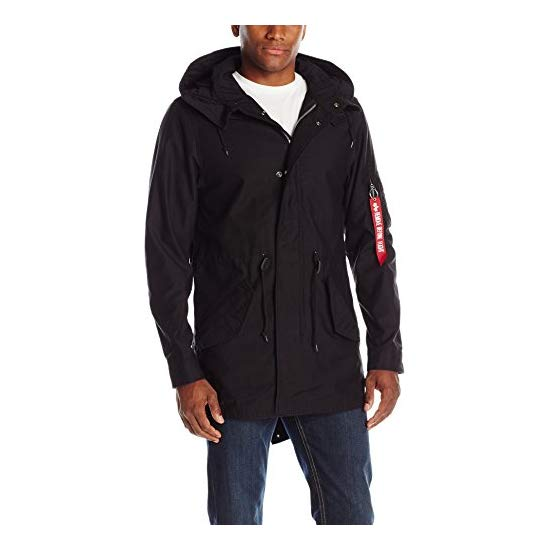 Alpha Industries Men's M-59 Fishtail Parka, Black, Medium