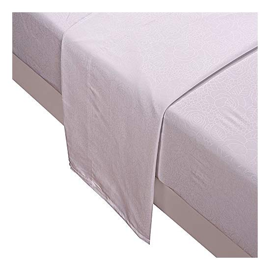 Honeymoon super soft embossed pattern 4PC bed sheet set, Full/Queen/King, deep pockets, sensitive skin, fine workmanship, Easy Care